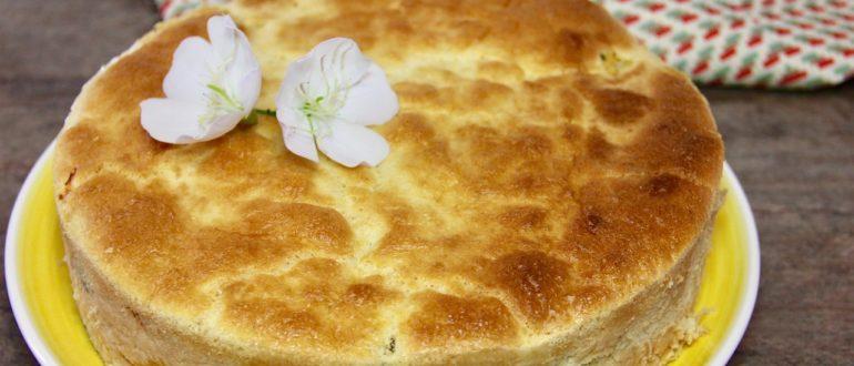 пирог с ревенем и пудингом
