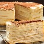 блинный торт с творогом